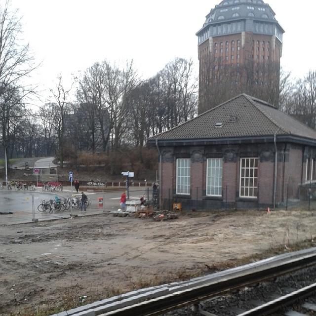 Regen und Matsch in Hamburg.