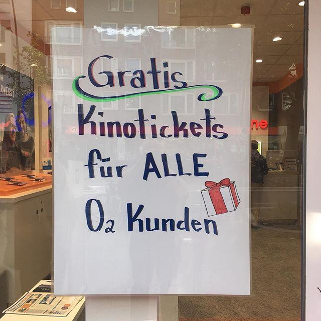 Keine Werbung, nur ne Frage. Ob das wahr ist? #o2 #hamburg #hh #aufderosterstrasse #eimsbüttel