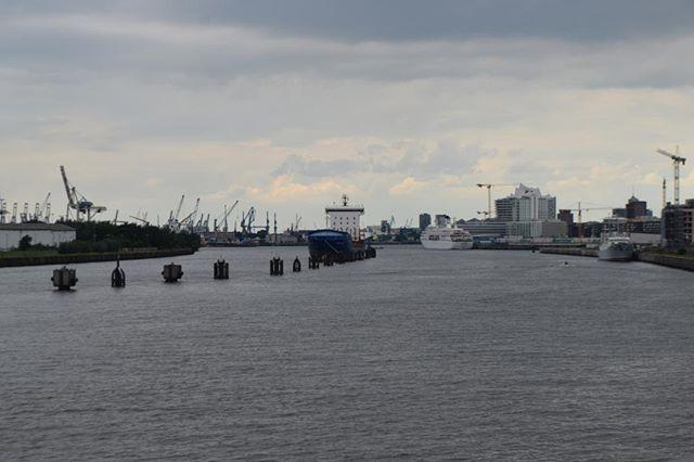 Hamburger Hafen von den Elbbrücken aus gesehen. #elbbrücken #hafen #hamburg #wasser #elbe #schiff #kran #kräne