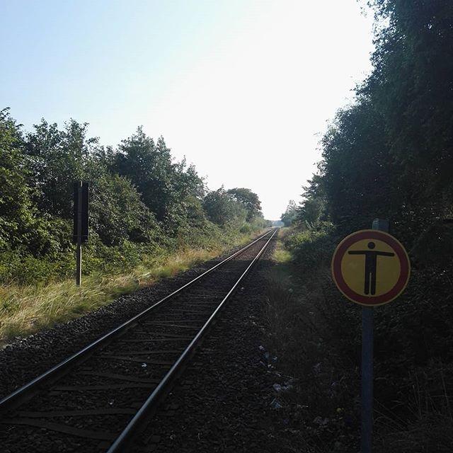 Bahngleise in Sankt Peter Ording #spo #bahngleise